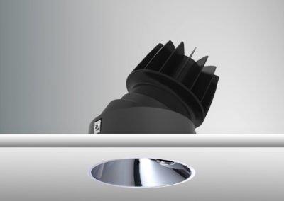 Tenus Round Tilt-black+baffle-chrome