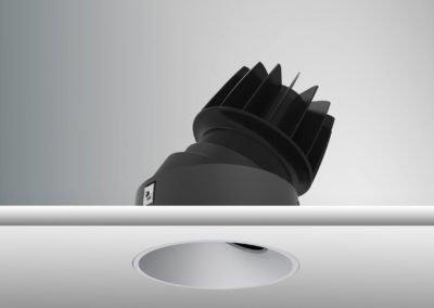 Tenus Round Tilt-black+baffle-matt chrome