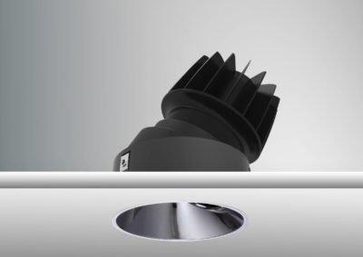 Tenus Round Tilt-black+baffle-mirror black