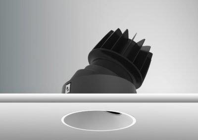 Tenus Round Tilt-black+baffle-white