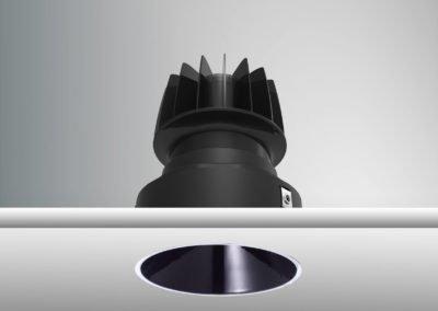 Tenus Round Trimless-black+baffle-piano black