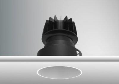Tenus Round Trimless-black+baffle-white