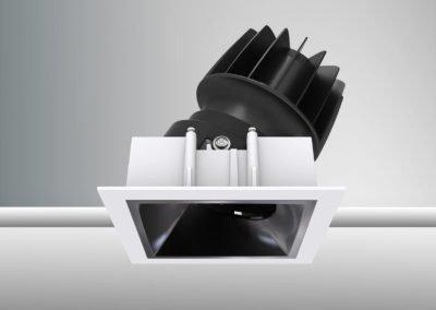 Tenus Square Tilt-baffle piano black